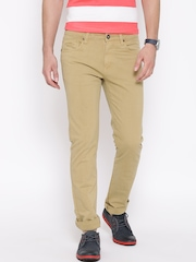 Pepe Jeans Beige Slim Casual Trousers