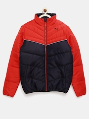 PUMA Boys Red & Navy Padded Jacket