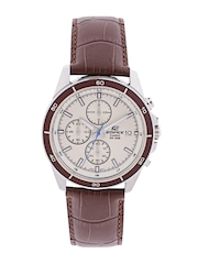 ef125f1c4e9 CASIO Edifice Men Cream Coloured Dial Chronograph Watch EX303 CASIO Watches  available at Myntra for Rs