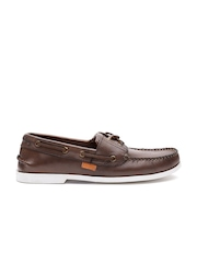 Superdry Men Brown Leather Boat Shoes