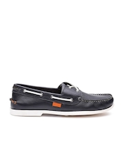 Superdry Men Navy Leather Boat Shoes