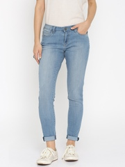 All About You from Deepika Padukone Women Blue Printed Skinny Fit Mid-Rise Jeans