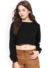 Miss Chase Black Crop Top
