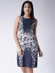 Moda Rapido Navy Floral Print A-Line Dress
