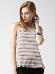 New Look Multicoloured Polyester Striped Top