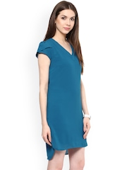 Hapuka Teal Blue Shift Dress
