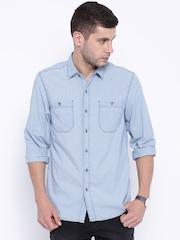 Lee Blue Denim Slim Fit Casual Shirt