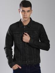 Tommy Hilfiger Black Washed Denim Jacket