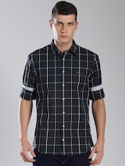 Tommy Hilfiger Navy Checked Casual Shirt