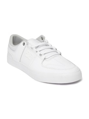 DC Men White LYNX Vulc Leather Sneakers