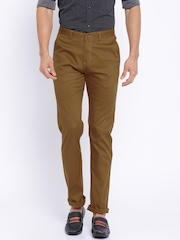 Cotton Colors Khaki Slim Fit Casual Trousers
