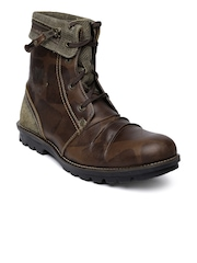 Woodland Men Brown Leather ProPlanet Boots