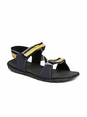PUMA Men Navy & Grey Silicis Mesh DP Sports Sandals