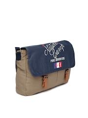 Celio Men Khaki & Navy Messenger Bag