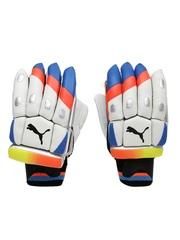 PUMA Boys White & Blue evoSPEED 3500 BG Left-Handed Batting Gloves