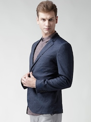 New Look Navy Single-Breasted Tailored Fit Casual Blazer