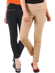 Bitterlime Pack of 2 Skinny Jeggings
