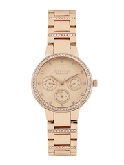 GIORDANO Premier Women Rose Gold-Toned Dial Watch P2053-33