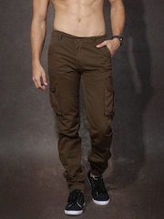 RDSTR Men Brown Jogger Fit Cargo Trousers