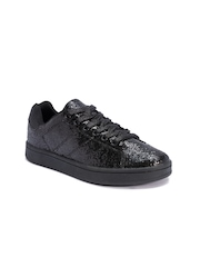 Truffle Collection Women Black Sequinned Sneakers