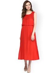 StyleStone Red Midi Dress