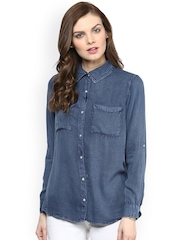 StyleStone Blue Denim Casual Shirt
