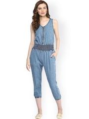 StyleStone Blue Denim Jumpsuit