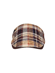 FabSeasons Kids Brown Checked Golf Cap
