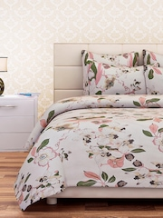 SEJ by Nisha Gupta	 Cream-Coloured 240 TC Cotton Double Bedsheet with 2 Pillow Covers
