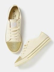 Mast & Harbour Women Beige Sneakers
