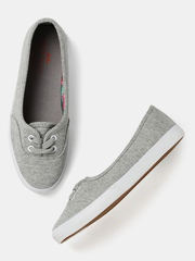 Mast & Harbour Women Grey Flat Shoes