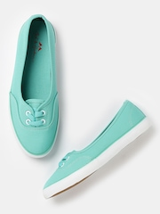 Mast & Harbour Women Green Flat Shoes
