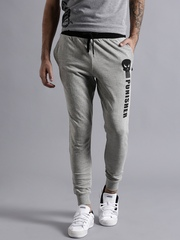 Kook N Keech Marvel Grey Melange Printed Track Pants