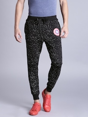 Kook N Keech Marvel Black & White Printed Jogger Trousers