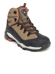 Power Men Brown & Black Acadia Hiking Shoes