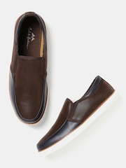 Mast & Harbour Men Brown & Navy Loafers