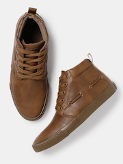 Roadster Men Brown Mid-Top Sneakers