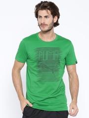 Puma Green Printed DryCELL T-shirt