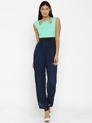 AND by Anita Dongre Women Green & Navy Jumpsuit