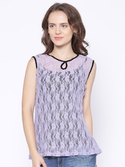 AND by Anita Dongre Lavender Lace Top