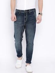 Locomotive Blue Slim Fit Cross Pocket Jeans