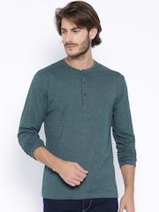 Highlander Teal Green Henley T-shirt