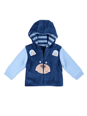 mothercare Boys Blue Hooded Sweatshirt