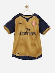 PUMA Boys Brown DryCELL Arsenal Printed Active T-shirt
