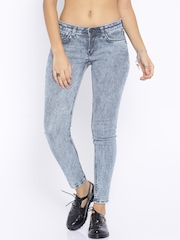 Tokyo Talkies Blue Washed Skinny Fit Jeans
