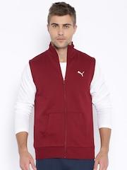 PUMA Maroon Sleeveless Jacket