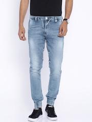 Killer Blue Washed Track Fit Jogger Jeans