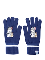 PUMA Kids Blue Active Tom & Jerry Print Knitted Gloves