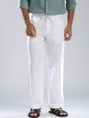 Fabindia Off-White Casual Trousers
