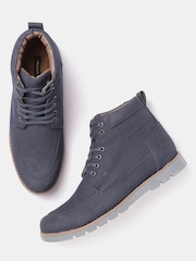 Moda Rapido Men Navy Textured Casual Shoes